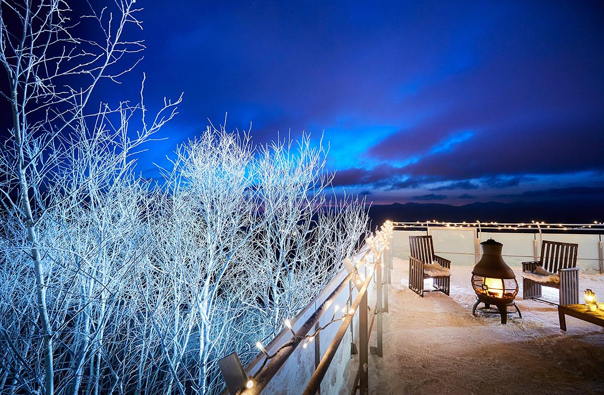 12月1日~25日限定 霧氷テラス ライトアップ