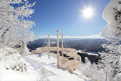 星野 Tomamu滑雪場特色服務介紹  霧冰平台